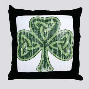 Vintage Trinity Shamrock Throw Pillow